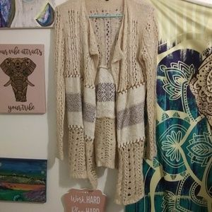 Nude knitted cardigan